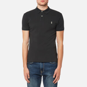 Polo Ralph Lauren Men's Slim Fit Mesh Polo Shirt - Dark Carbon Grey