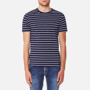 Polo Ralph Lauren Men's Stripe T-Shirt - French Navy Andover