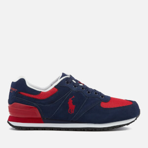 Polo Ralph Lauren Men's Slaton Pony Sport Suede Trainers - Newport Navy/RL Red