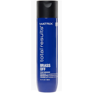 Matrix Total Results Brass Off Brunette Neutralising Blue Shampoo for Lightened Brunette Hair 300ml