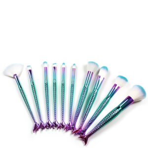 Niko Pro Tools 10 Piece Mermaid Brush Set