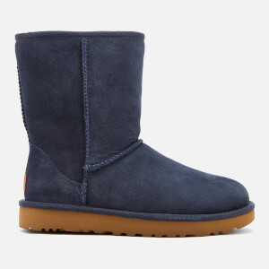 UGG Women's Classic Short II Sheepskin Boots - Navy