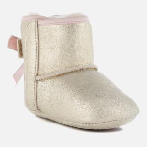 UGG Babies' Jesse Bow II Metallic Pre-Walker Boots - Gold: Image 2