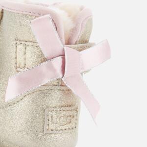 UGG Babies' Jesse Bow II Metallic Pre-Walker Boots - Gold: Image 6