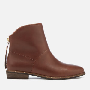UGG Women's Bruno Leather Ankle Boots - Mid Brown