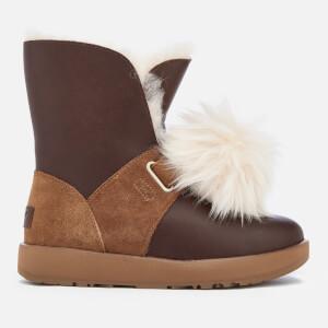 UGG Women's Isley Waterproof Pom Sheepskin Boots - Chestnut