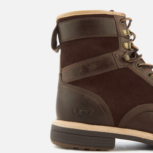 UGG Men's Magnusson Grain Leather Lace Up Boots - Grizzly: Image 6