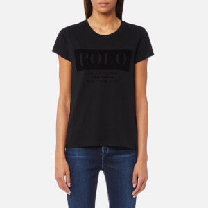 Polo Ralph Lauren Women's Fl Polo T-Shirt - Black