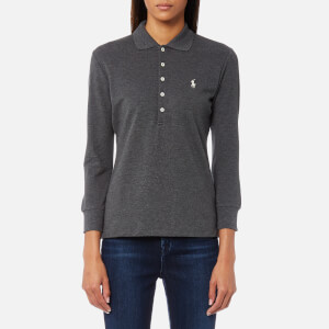 Polo Ralph Lauren Women's 3/4 Length Julie Long Sleeve Top - Light Grey