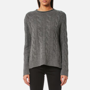 Polo Ralph Lauren Women's Boxy Roll Neck Jumper - Grey