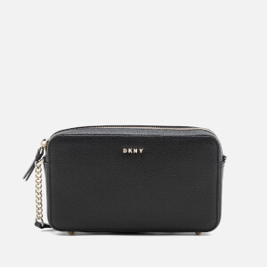 DKNY Women's Chelsea Pebbled Small Leather Top Zip Cross Body Bag - Black
