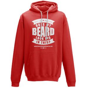 Does My Beard Look Big In This Men's Red Hoodie