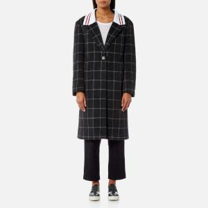 Maison Kitsuné Women's Ribbed Thelma Masculine Coat - Grey