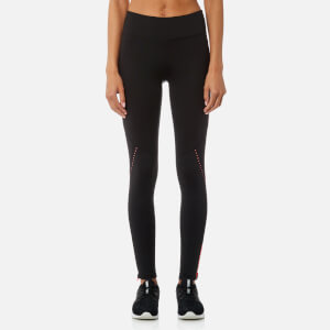 DKNY Sport Women's Mid Rise 7/8 Logo Tights with Reflective Tape - Vibrant Pink