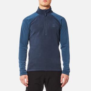 Haglöfs Men's Astro II Micro Fleece Top - Tarn Blue/Blue Ink - XL