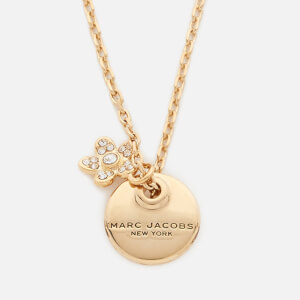 Marc Jacobs Women's MJ Coin Crystal Pendant - Gold