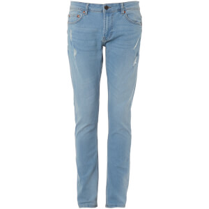 Troy Men's Loop Washed Slim Fit Jeans - Light Blue Denim