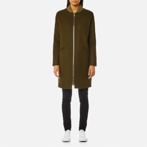 Herno Women's Woven Coat - Light Military