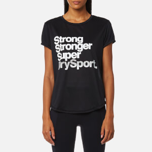Superdry Sport Women's Fitspiration T-Shirt - Black