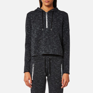 Superdry Sport Women's Gym Tech Luxe Cropped Hoody - Black Granite Marl
