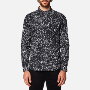 PS by Paul Smith Men's Lightning Print Long Sleeve Shirt - Black