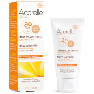 Acorelle Organic Tinted SPF50 Sunscreen - Gold 50ml