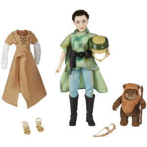 Figuras Princesa Leia y Ewok - Star Wars: Forces of Destiny