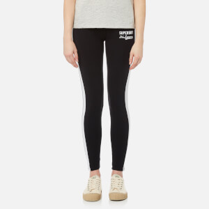 Superdry Women's Tri League Graphic Leggings - Black