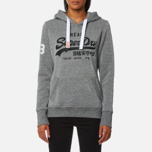 Superdry Women's Vintage Logo Lurex Entry Hoody - Nitro Grey Lurex