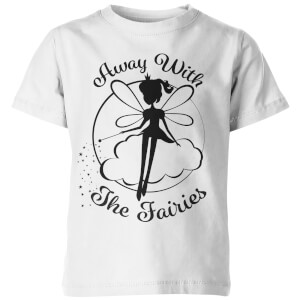 Away With The Fairies Kid's White T-Shirt