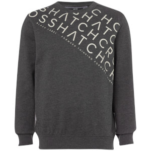 Sweat Homme Leeroy Crew Crosshatch - Gris Charbon