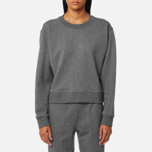 T by Alexander Wang Women's Dry French Terry Long Sleeve Tie Back Sweatshirt - Heather Grey