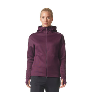 adidas Women's ZNE Heat Training Hoody - Purple