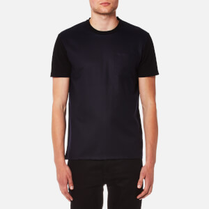 AMI Men's Contrast Sleeve Crew Neck T-Shirt - Navy/Black