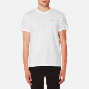 AMI Men's Small Chest Logo Crew Neck T-Shirt - White