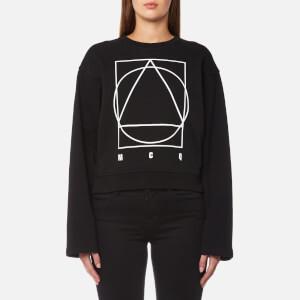 McQ Alexander McQueen Women's Boxy Kimono Logo Sweatshirt - Darkest Black
