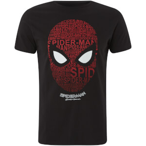 Marvel Spider-Man Spider Head T-Shirt - Zwart