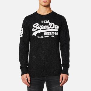 Superdry Men's Vintage Logo Crew Sweatshirt - Smoked Space Dye Grit