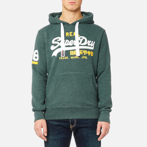Superdry Men's Vintage Logo Duo Hoody - Forest Marl
