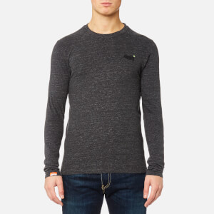 Superdry Men's Orange Label Vintage Long Sleeve T-Shirt - Steel Grey Grit