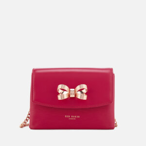 Ted Baker Women's Leorr Looped Bow Mini Cross Body Bag - Deep Pink