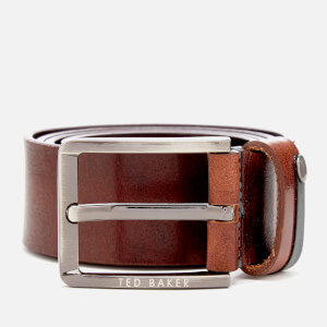 Ted Baker Men's Keepsak Contrast Keeper Leather Belt - Tan