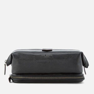 Ted Baker Men's Scaler Lizard Wash Bag - Black