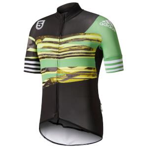 adidas Men's Adistar Jersey - Black/Green
