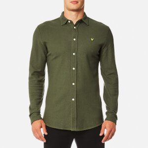 Lyle & Scott Men's Honeycomb Jersey Shirt - Olive