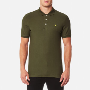 Lyle & Scott Men's Honeycomb Polo Shirt - Olive