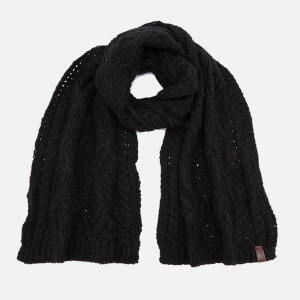 Superdry Women's Nebraska Cable Scarf - Black