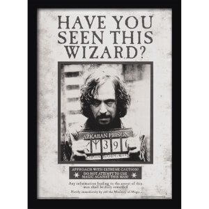 Affiche Encadrée Sirius Black Wanted Harry Potter - 30 x 40 cm