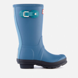 Hunter Kids' Original Contrast Wellies - Dark Earth Blue
