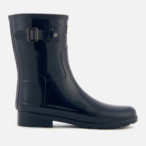 Hunter Women's Original Refined Short Gloss Wellies - Navy